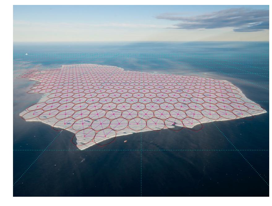 Example of a realistically shaped tabular iceberg