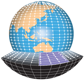Image of a global 3-dimensional grid.