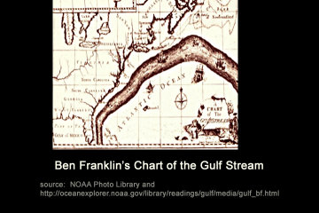 [Ben Franklin's chart of the Gulf Stream screen shot]