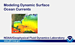 [Modeling Dynamic Surface Ocean Current title screen image]