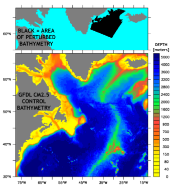 [CM2.5 model bathymetry - Control and Perturbed]