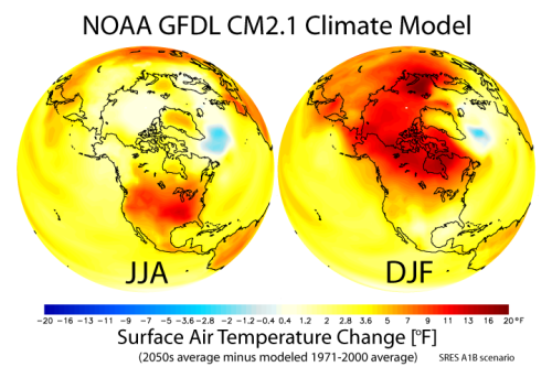 [Global Warming figure GFDL CM2.1]