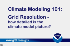 [GFDL Climate Modeling 101: Grid Resolution title screen image]